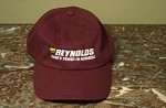 REYNOLDS MAROON COTTON BASEBALL CAP
